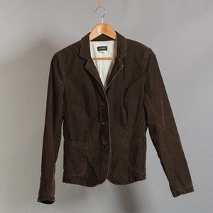 [J. Crew] brown corduroy blazer